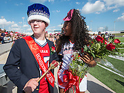 Lamar High School Homecoming King Zachary Smith and Queen Jaz'myne Perry during a football game between Bellaire High School and Lamar High School at Delmar Stadium, October 21, 2016.