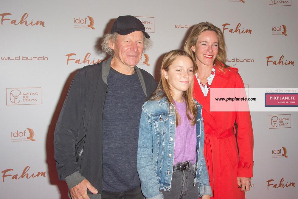 Philippe Poupon_Géraldine Danon et leur fille Avant première du film Fahim dimanche 29 Septembre 2019  cinéma Le grand Rex Paris
