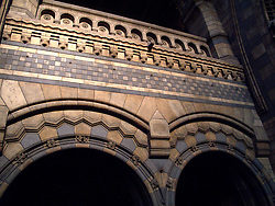 UK ENGLAND LONDON APR11 - Detail view of ornate brickwork at Central Hall of the Natural History Museum in Kensington, London. The museum is home to life and earth science specimens comprising some 70 million items within five main collections: Botany, Entomology, Mineralogy, Palaeontology and Zoology...jre/Photo by Jiri Rezac..© Jiri Rezac 2011