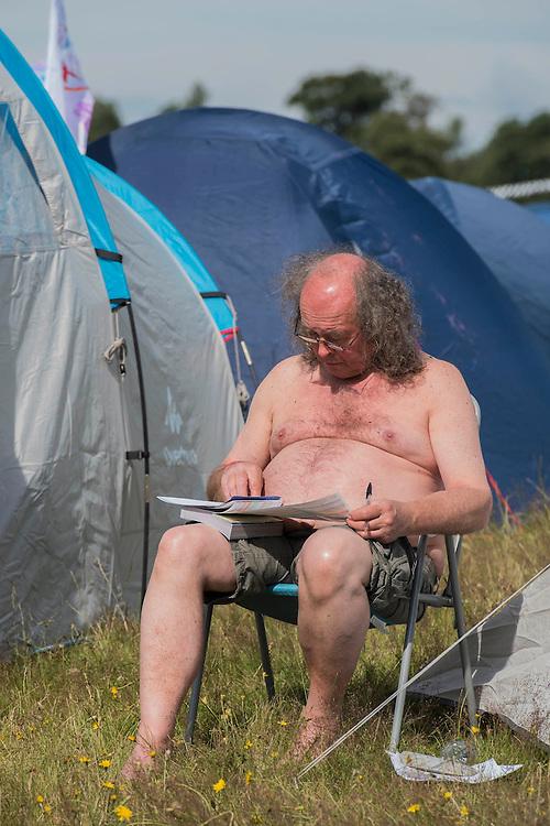 Planning for the day -  The 2016 Latitude Festival, Henham Park, Suffolk.