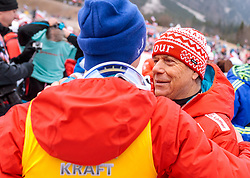 26.03.2017, Planica, Ratece, SLO, FIS Weltcup Ski Sprung, Planica, Siegerehrung, im Bild Gesamtweltcup- und Skiflug Weltcup Sieger Stefan Kraft (AUT), ÖSV Präsident Prof. Peter Schröcksnadel // Overall World Cup and Ski Flying World Cup winner Stefan Kraft of Austria and Austrian Ski Federation President Prof. Peter Schroecksnade during the Winner Award Ceremony of the FIS Ski Jumping World Cup Final 2017 at Planica in Ratece, Slovenia on 2017/03/26. EXPA Pictures © 2017, PhotoCredit: EXPA/ JFK