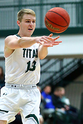 17 November 2017:  Brady Rose during an College men's division 3 CCIW basketball game between the Alma Scots and the Illinois Wesleyan Titans in Shirk Center, Bloomington IL