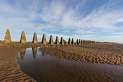 Crammond Beach stone monuments (c) Ross Eaglesham| Edinburgh Elite media