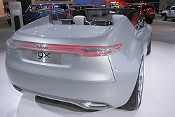 11 February 2009: SAAB 9-X CONVERTIBLE CONCEPT: The 9-X Convertible Concept is an innovative design study exploring what a future open-air Saab could look like. Unlike any other convertible, this prototype has the revolutionary Canopy Top, where only the upper part of the roof is canvas covered. A totally new take on open air driving. The rear of the car, with its prominent buttresses, creates a targa-like look for an open four- seater. Biofueled, turbocharged and electronically powered Ð the front-wheel drive Saab 9-X prototype is more responsible via its optimized Verified Sustainable E85 bioethanol fuel. Pairing the right-sized BioPower engine with an electric hybrid drive system, which includes regenerative braking, further reduces consumption. The 200 h.p. transversely-mounted engine is mated to six-speed manual gearbox.. The Chicago Auto Show is a charity event of the Chicago Automobile Trade Association (CATA) and is held annually at McCormick Place in Chicago Illinois.