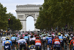 July 29, 2018 - Paris Champs-Elysees, France - PARIS CHAMPS-ELYSEES, FRANCE - JULY 29 : illustration picture of the peloton  during stage 21 of the 105th edition of the 2018 Tour de France cycling race, a stage of 116 kms between Houilles and Paris Champs-Elysees on July 29, 2018 in Paris Champs-Elysees, France, 29/07/18  (Credit Image: © Panoramic via ZUMA Press)