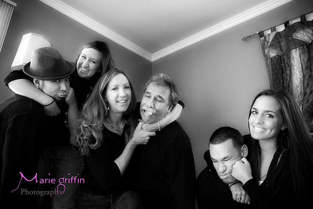 Bush-Luna Family Portrait on March 20, 2010.<br /> Cindy, Rich, John, Albany, Cassius, Gabe, Nicole