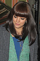 LONDON - February 09: Lily Rose Cooper AKA Lily Allen at The Charles Finch & Chanel Pre-BAFTA Party (Photo by Brett D. Cove)