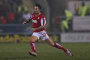 Rotherham United forward Matt Derbyshire (27)  during the Sky Bet Championship match between Rotherham United and Middlesbrough at the New York Stadium, Rotherham, England on 8 March 2016. Photo by Simon Davies.