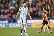 Huddersfield Town defender Mark Hudson (5)  during the Sky Bet Championship match between Huddersfield Town and Hull City at the John Smiths Stadium, Huddersfield, England on 9 April 2016. Photo by Simon Davies.