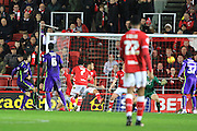 Charlton Athletic defender Harry Lennon scores the equaliser during the Sky Bet Championship match between Bristol City and Charlton Athletic at Ashton Gate, Bristol, England on 26 December 2015. Photo by Jemma Phillips.
