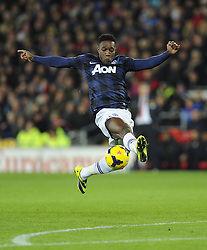 Man Utd Forward Danny Welbeck (ENG) - Photo mandatory by-line: Joseph Meredith/JMP - Tel: Mobile: 07966 386802 - 24/11/2013 - SPORT - FOOTBALL - Cardiff City Stadium - Cardiff City v Manchester United - Barclays Premier League.