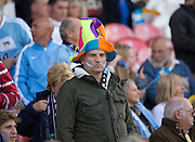 Gloucester, Great Britain, Argentina Argentina, Fans, Hats, before the start of Pool C. game. Argentina vs Georgia,  2015 Rugby World Cup, Venue. Kingsholm Stadium. England, Friday - 25/09/2015 <br /> [Mandatory Credit; Peter Spurrier/Intersport-images]