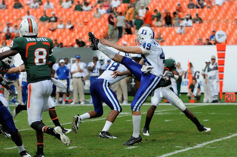 2009 Duke Blue Devils Football @ MIami