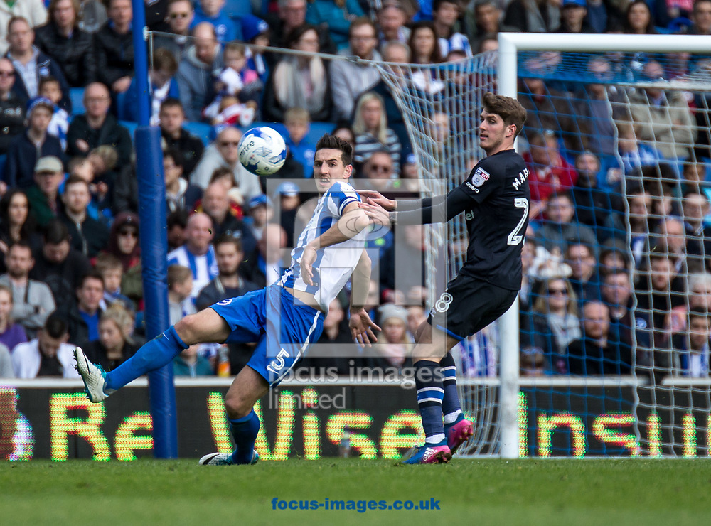 Lewis Dunk of Brighton &amp; Hove Albion during the Sky Bet Championship match at the American Express Community Stadium, Brighton and Hove<br /> Picture by Liam McAvoy/Focus Images Ltd 07413 543156<br /> 01/04/2017