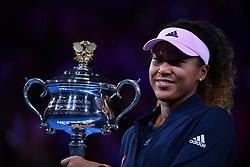 January 26, 2019 - Melbourne, AUSTRALIA - Naomi Osaka defeated Petra Kvitova in Australian open Final (Credit Image: © Panoramic via ZUMA Press)