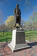 Statue of Tadeusz Kościuszko, national hero of Poland, Lithuania, Belarus, and the United States. Mount Kosciuszko in Australia also bears his name. Boston Common, Boston, Massachusetts.