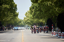Sarah Roy (AUS) and Sarah Rijkes (AUT) lead the bunch at Tour of Chongming Island 2019 - Stage 3, a 118.4 km road race on Chongming Island, China on May 11, 2019. Photo by Sean Robinson/velofocus.com
