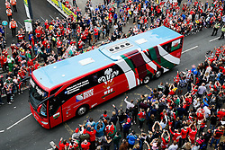 General View as the Wales Team Coach arrives late to the Millennium Stadium before the game - Mandatory byline: Rogan Thomson/JMP - 07966 386802 - 20/09/2015 - RUGBY UNION - Millennium Stadium - Cardiff, Wales - Wales v Uruguay - Rugby World Cup 2015 Pool A.