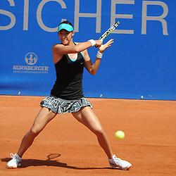 22.05.2014, Tennisanlage 1.FC Nuernberg, GER, WTA Tour, Nuernberger Versicherungscup, Viertelvinale, im Bild Vorhand von Caroline GARCIA (FRA) // during the quarterfinals of Nuernberg WTA tournament at the 1.FC Nuernberg tennis facility in Nuernberg, Germany on 2014/05/22. EXPA Pictures © 2014, PhotoCredit: EXPA/ Eibner-Pressefoto/ Schreyer<br /> <br /> *****ATTENTION - OUT of GER*****