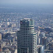 Towering high above Downtown LA is the U.S. Bank tower, currently the tallest skyscraper in the US west of the Mississippi.
