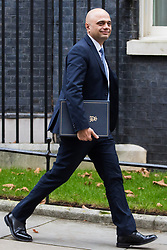 London, UK. 18th December, 2018. Sajid Javid MP, Secretary of State for the Home Department, leaves 10 Downing Street following the final Cabinet meeting before the Christmas recess. Topics discussed were expected to have included preparations for a 'No Deal' Brexit.