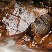 River detail with rock and water