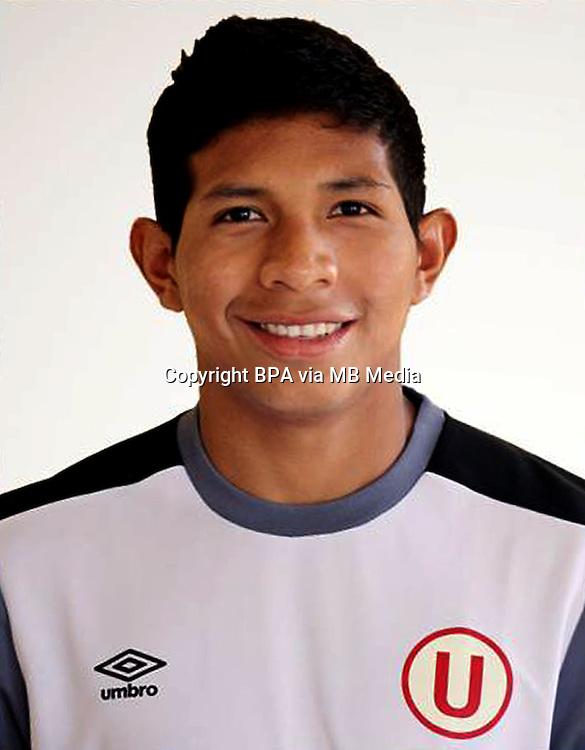 Football - Peruvian League Descentralizado - <br /> Movistar Trophy 2016 - Abertura Tournament / <br /> Club Universitario De Deportes Lima - <br /> Edison Flores