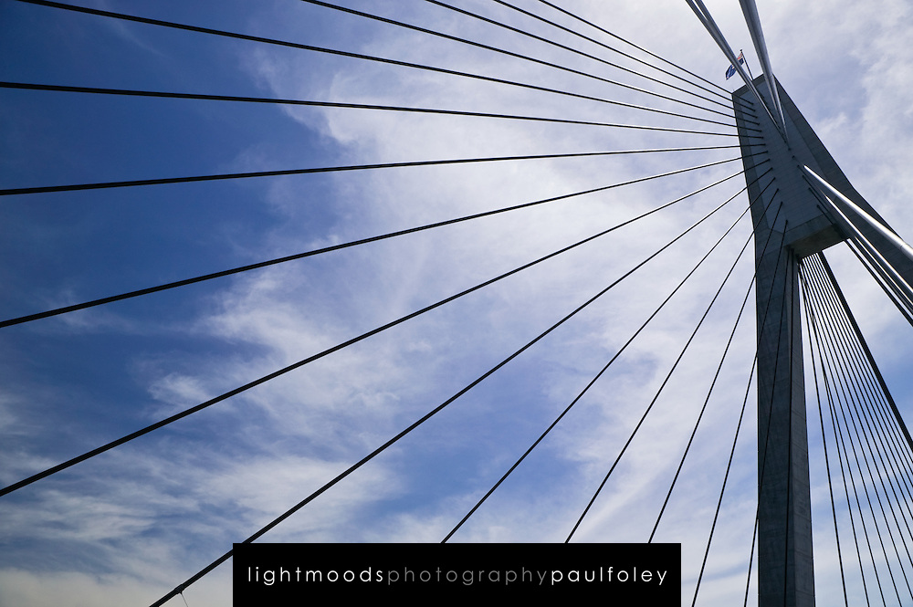 Detail of Anzac Bridge, Sydney Australia