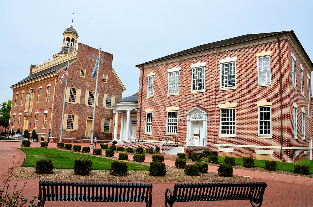 Delaware Old State House and Supreme Court in Dover, Delaware  <br />