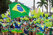 Performers from Brasil take part at the Dream Parade, Taipei.