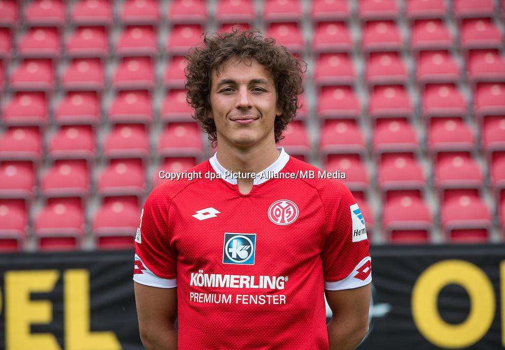 German Soccer Bundesliga 2015/16 - Photocall 1. FSV Mainz on 12 July 2015 in Mainz, Germany: Julian Baumgartlinger.