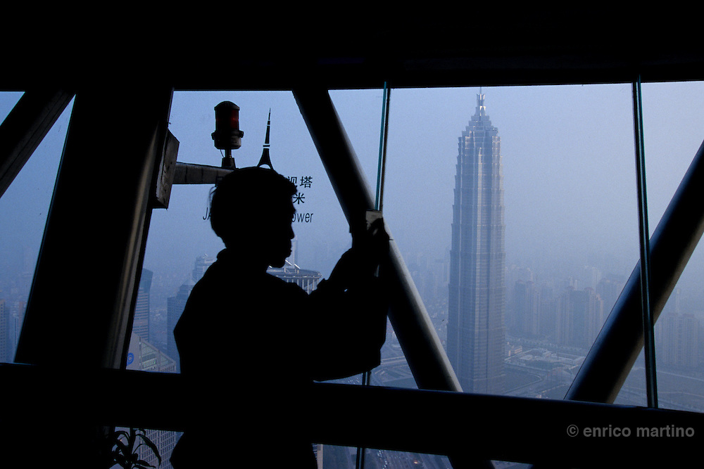 Pudong New Area, Jinmao Tower, one of the world highest buildings.