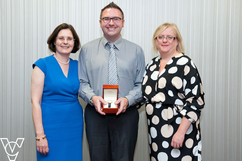 Pictured is, from left, Lincolnshire Co-operative chief executive Ursula Lidbetter, Andrew Atkin, Lincolnshire Co-operative president Amy Morley<br /> <br /> Lincolnshire Co-operative long service awards 2015, held at The Showroom, Tritton Road, Lincoln.<br /> <br /> Date: September 23, 2015<br /> Picture: Chris Vaughan/Chris Vaughan Photography