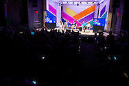 """Joan Dempsey of Booz Allen Hamilton moderates the """"Global Trends That Affect us All: Are We Ready?"""" panel at the 2014 Aspen Ideas Festival in Aspen, CO. ©Brett Wilhelm"""