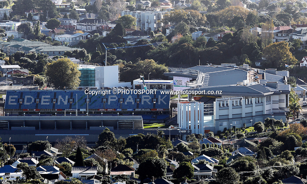 Eden Park exterior general view, Eden Park was upgraded ahead of the 2011 Rugby World Cup. Eden Park, Kingsland, Auckland, New Zealand. 18 May 2011. Photo: William Booth/photosport.co.nz