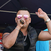 London, UK. 4th August 2017. Jhonny RC preforms at The 6th annual LATIN American Carnival Newham. A Latin American summer festival party with live music, delicious food & drinks and barbecue of Latino community and to show the vibrant of Latin culture at West Ham.