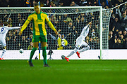 Pablo Hernandez of Leeds United (19) scores a goal and celebrates to make the score 1-0 during the EFL Sky Bet Championship match between Leeds United and West Bromwich Albion at Elland Road, Leeds, England on 1 March 2019.