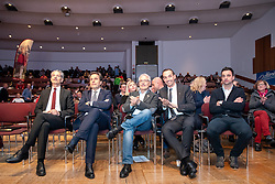 29.01.2019, Stadtsaal, Lienz, AUT, TVBO Wahl 2019, Wahlwiederholung, im Bild Hansjörg Mattersberger, DolomitenBank, Franz Theurl, freiwilliges Mitglied, Werner Frömel, Eventagentur, Thomas Winkler, Hotel Pepo und Thomas Winkler OG, Gerhard Scherer, Hotel Scherer KG // during the redial of the TVBO election at the Stadtsaal in Lienz, Austria on 2019/01/29. EXPA Pictures © 2019, PhotoCredit: EXPA/ Johann Groder