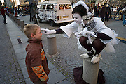 Mime and boy, Pompidou Center, Paris, France