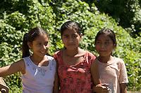 Girls who sort rocks, Retalulheu, Guatemala.