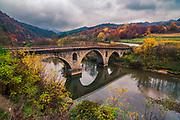 Roman bridge above the river