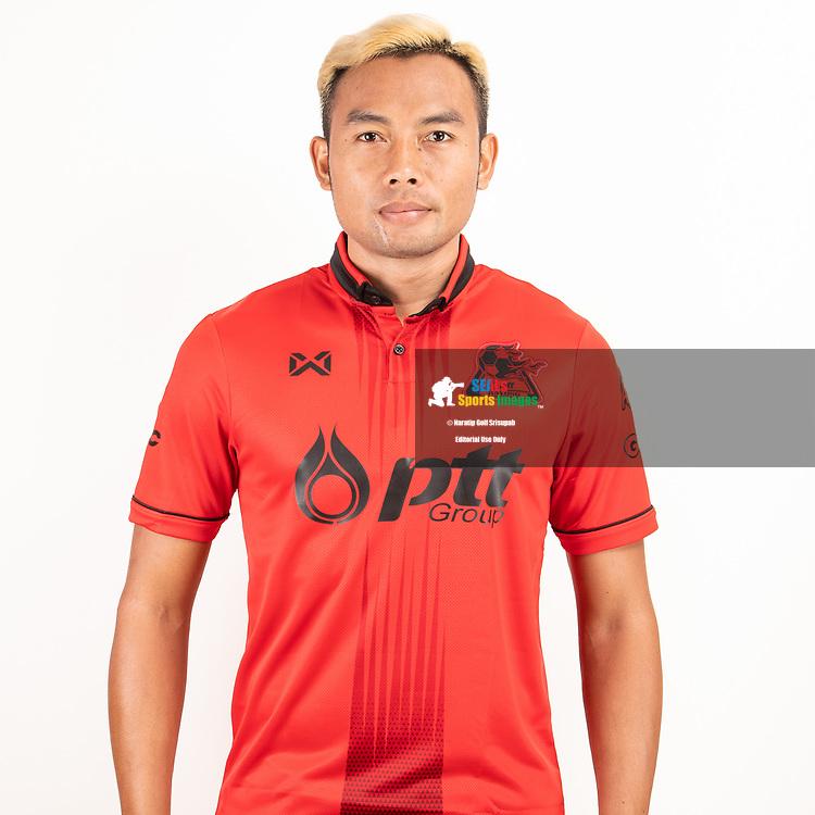 THAILAND - JUNE 09: Apiwat Pengprakon #9 of PTT Rayong FC on June 09, 2019.<br /> .<br /> .<br /> .<br /> (Photo by: Naratip Golf Srisupab/SEALs Sports Images/MB Media Solutions)
