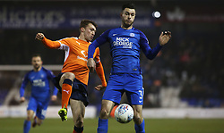 Andrew Hughes of Peterborough United in action against Luton Town - Mandatory by-line: Joe Dent/JMP - 09/01/2018 - FOOTBALL - Kenilworth Road - Luton, England - Luton Town v Peterborough United - Checkatrade Trophy