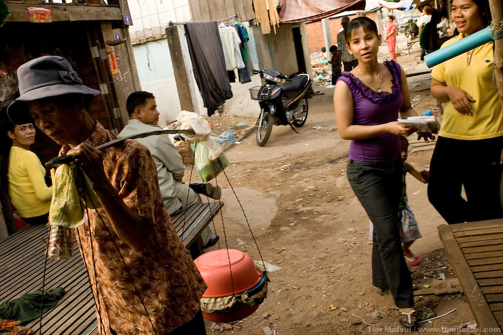 Life in one of Phnom Penh's slums, notorious for prostitution, drugs, and gangs.
