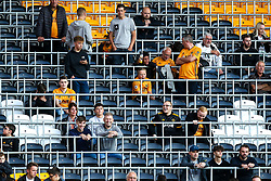 Wolverhampton Wanderers fans sit in amongst the new safe standing bars - Mandatory by-line: Robbie Stephenson/JMP - 19/08/2019 - FOOTBALL - Molineux - Wolverhampton, England - Wolverhampton Wanderers v Manchester United - Premier League