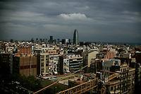 20110903 - Barcelona, Spain - The view from La Sagrada Familia in Barcelona, Spain.  Photo by Matthew Healey
