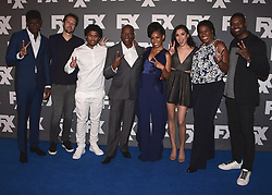 """BEVERLY HILLS, CA - AUGUST 9:   Cast of FX's """"Snowfall"""" (Damson, Idris, Dave Andron, Isaiah John, John Singleton, Angela Lewis, Emily Rios and Michael Hyatt ) and Amin Joseph at the FX 2017 Television Critics Association Summer Tour Star Walk at The Beverly Hilton Hotel on Tuesday, August 9, 2017 in Beverly Hills, CA. (Photo by Scott Kirkland/Fox/PictureGroup)BEVERLY HILLS, CA - AUGUST 9:   Cast of FX's """"Snowfall"""" (Damson, Idris, Dave Andron, Isaiah John, John Singleton, Angela Lewis, Emily Rios and Michael Hyatt ) and Amin Joseph at the FX 2017 Television Critics Association Summer Tour Star Walk at The Beverly Hilton Hotel on Tuesday, August 9, 2017 in Beverly Hills, CA. (Photo by Scott Kirkland/Fox/PictureGroup) *** Please Use Credit from Credit Field ***"""