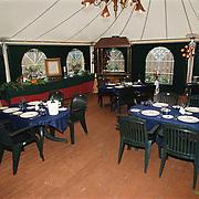 Restaurant 't Jagerhuis Dorpstraat Lage Vuursche, overdekte tent terras