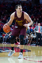 NORMAL, IL - January 19: Cameron Krutwig during a college basketball game between the ISU Redbirds and the Loyola University Chicago Ramblers on January 19 2020 at Redbird Arena in Normal, IL. (Photo by Alan Look)