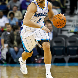 December 3, 2010; New Orleans, LA, USA; New Orleans Hornets shooting guard Marco Belinelli (8) during the first half against the New York Knicks at the New Orleans Arena. The Knicks defeated the Hornets 100-92. Mandatory Credit: Derick E. Hingle
